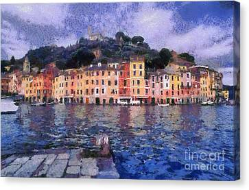 Portofino In Italy Canvas Print by George Atsametakis