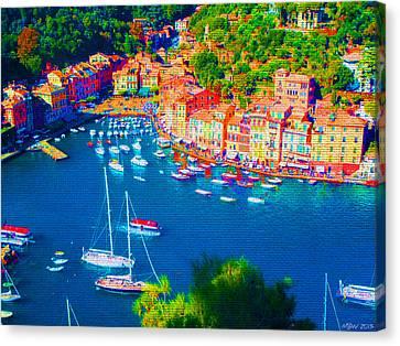 Portofino Canvas Print by Michelle Dallocchio