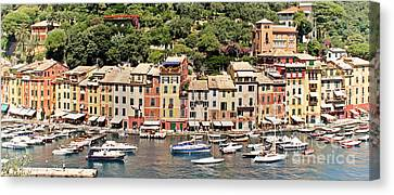 Portofino Panorama Canvas Print by Kate McKenna