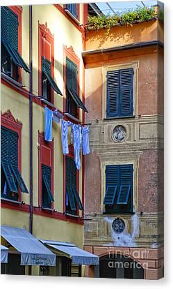 Portofino Street Still Canvas Print by George Oze