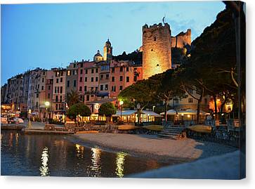 Portovenere At Night Canvas Print