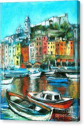 Mona Edulescu Canvas Print - Portovenere by Mona Edulesco