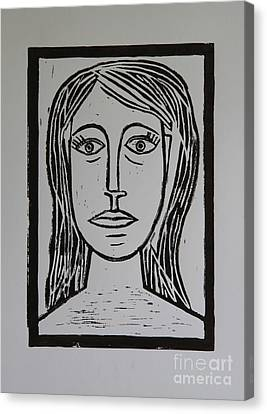 Portrait A La Picasso Canvas Print by Christiane Schulze Art And Photography