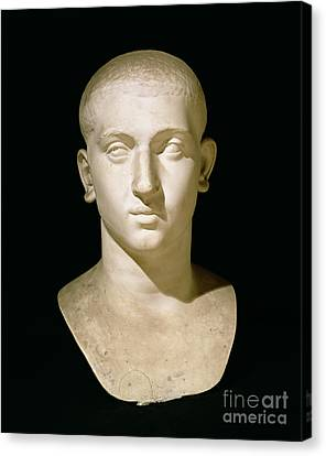 Portrait Bust Of Emperor Severus Alexander Canvas Print by Anonymous