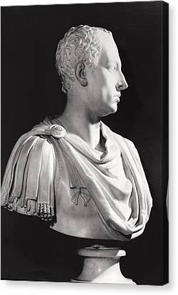 Portrait Bust Of Francis I 1708-65, Holy Roman Emperor Canvas Print by Antonio Canova