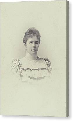 Portrait Charlotte Matthes-doorman. Koene Canvas Print