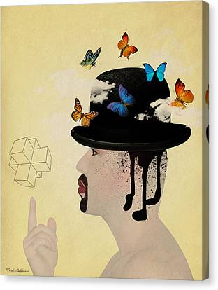 Portrait Hat Canvas Print by Mark Ashkenazi