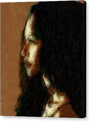 Portrait In Sepia Tones  Canvas Print