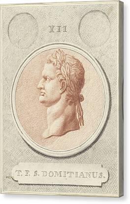 Portrait Medallion Of Domitian, Roman Emperor Canvas Print by Quint Lox