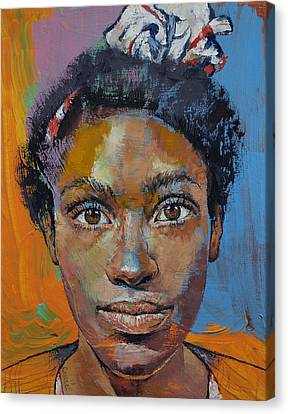 Portrait Of Toni Canvas Print by Michael Creese