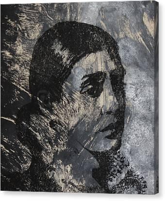 Portrait Monoprint Canvas Print by Rachel Hames