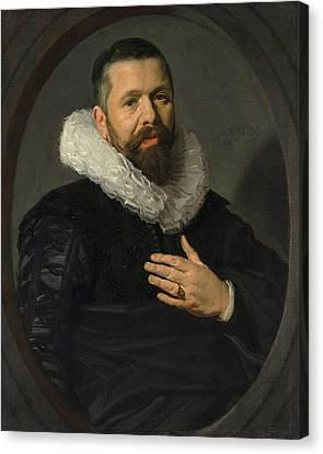 Old Man With Beard Canvas Print - Portrait Of A Bearded Man With A Ruff by Frans Hals