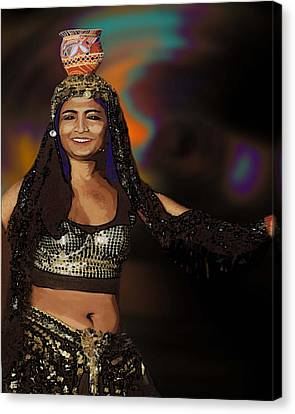 Portrait Of A Belly Dancer Canvas Print