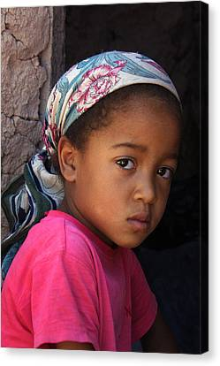 Portrait Of A Berber Girl Canvas Print