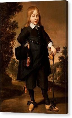 Portrait Of A Boy  Canvas Print by French School