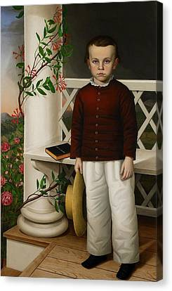 Portrait Of A Boy Canvas Print by James B Read
