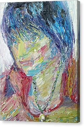 Portrait Of A Boy - Marcus Canvas Print by Fabrizio Cassetta