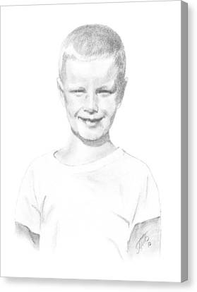 Portrait Of A Boy Canvas Print