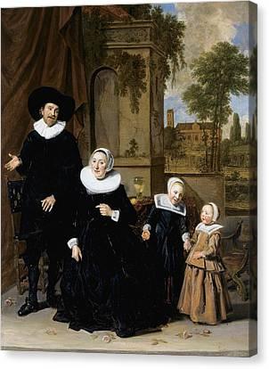 Portrait Of A Dutch Family Canvas Print by Frans Hals