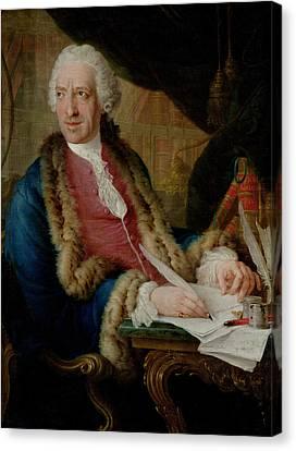 Cravat Canvas Print - Portrait Of A Gentleman, 1767 Oil On Canvas by Louis Gabriel Blanchet
