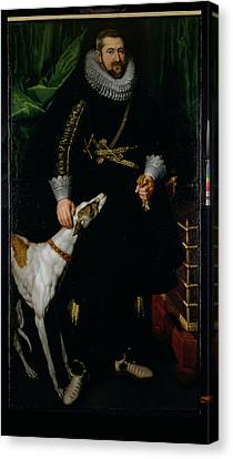 Portrait Of A Gentleman Said To Be From The Coudenhouve Family Of Flanders, C.1610-20 Oil On Canvas Canvas Print