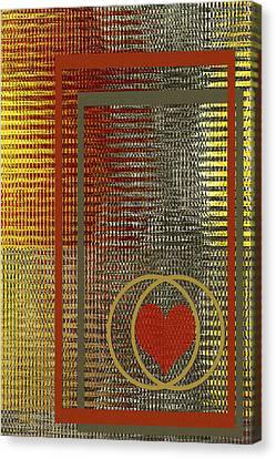 Portrait Of A Heart Canvas Print by Ben and Raisa Gertsberg