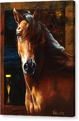 Portrait Of A Horse Canvas Print by Dragan Petrovic Pavle