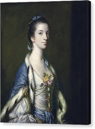 Decolletage Canvas Print - Portrait Of A Lady, 1758 Oil On Canvas by Sir Joshua Reynolds