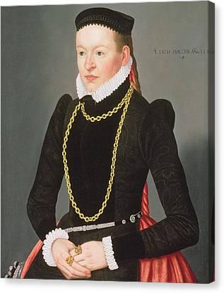 Portrait Of A Lady, C.1585 Canvas Print by Lorenz Strauch