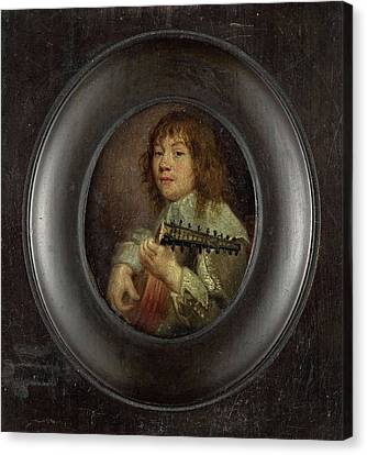 Portrait Of A Lute Player, Anonymous Canvas Print by Litz Collection