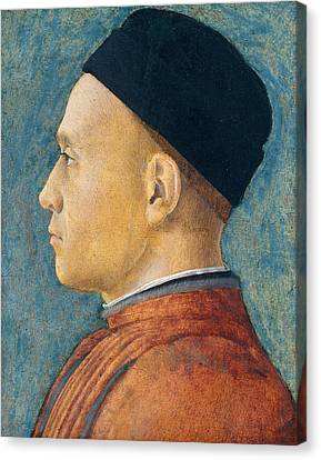Portrait Of A Man Canvas Print by Andrea Mantegna