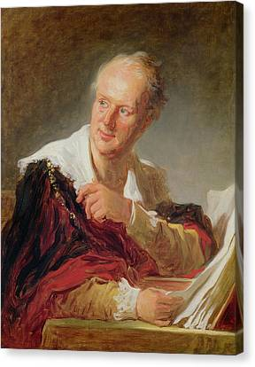 Portrait Of A Man, 1769 Canvas Print by Jean-Honore Fragonard