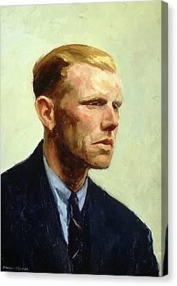 Sombre Canvas Print - Portrait Of A Man by Edward Hopper