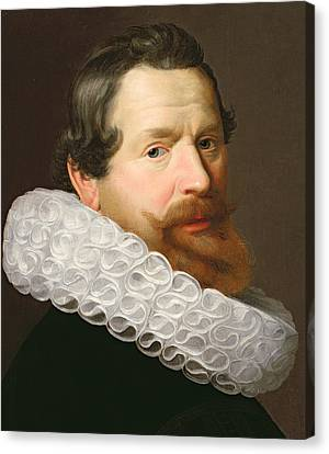 Portrait Of A Man Wearing A Ruff Canvas Print