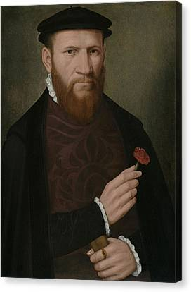 Half-length Canvas Print - Portrait Of A Man With His Right Hand by Master of the 1540s