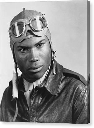 Portrait Of A Tuskegee Airman. Howard Canvas Print by Everett