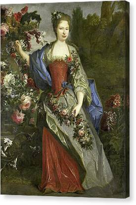 Portrait Of A Woman, According To Tradition Marie Louise Canvas Print by Litz Collection