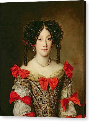 Portrait Of A Woman Canvas Print by Jacob Ferdinand Voet