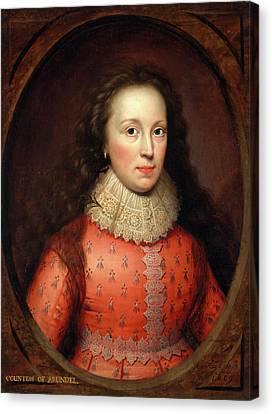 Portrait Of A Woman, Traditionally Identified Canvas Print by Litz Collection