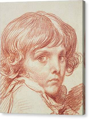 Portrait Of A Young Boy Canvas Print by Claude Lorrain