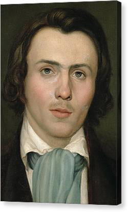 Portrait Of A Young Man Canvas Print by Rudolph Friedrich Wasmann