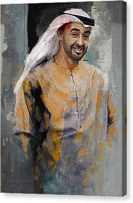 Portrait Of Abdullah Bin Zayed Al Nahyen 5 Canvas Print by Maryam Mughal