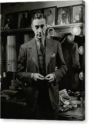Dressing Room Canvas Print - Portrait Of Actor Clifton Webb by Lusha Nelson