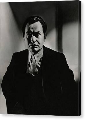 Portrait Of Actor Edward G. Robinson Canvas Print