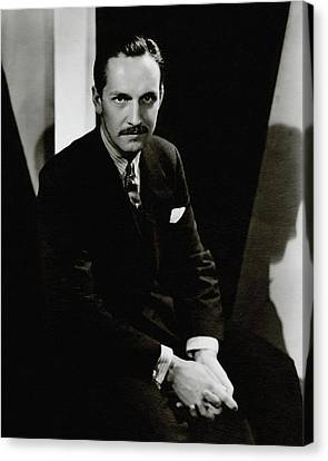 Portrait Of Actor Frederick March Canvas Print