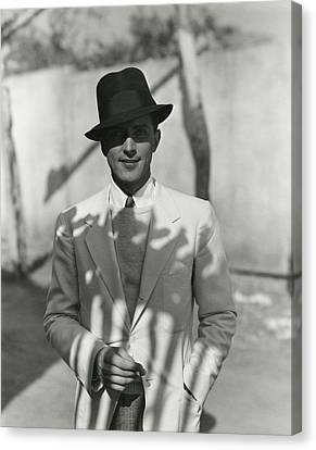 Young Man Canvas Print - Portrait Of Actor Phillips Holmes by George Hoyningen-Huene