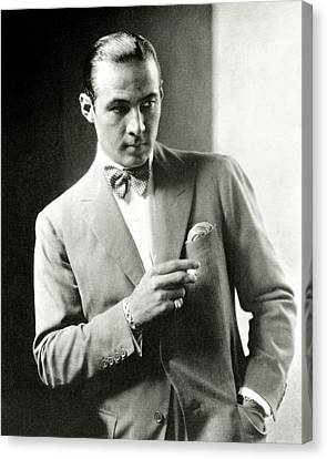 Portrait Of Actor Rudolph Valentino Canvas Print by Edward Steichen