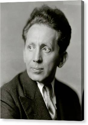 Portrait Of Actor Sam Jaffe Canvas Print by Florence Vandamm