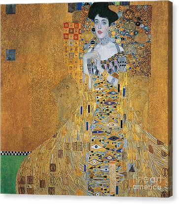 Portrait Of Adele Bloch-bauer I Canvas Print by Gustav Klimt