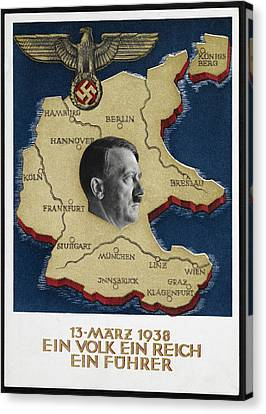 Portrait Of Adolf Hitler Canvas Print by British Library